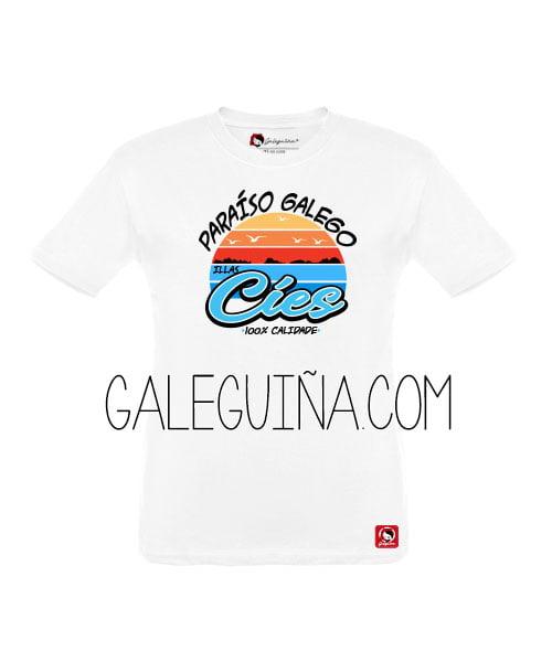 Camiseta paraiso galego para nenos