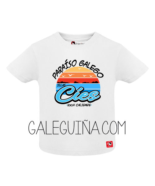Camiseta PARAÍSO GALEGO para bebés
