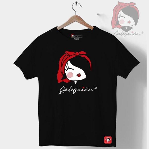 Camiseta galeguiña negra