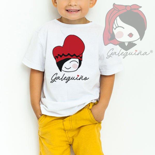 Camiseta Galeguiño para nenos