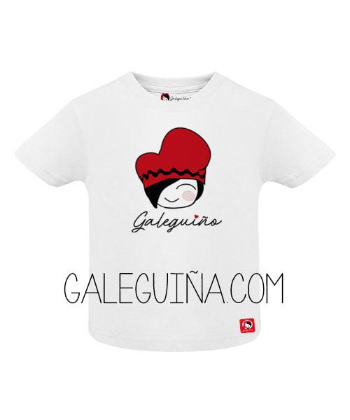 Camiseta Galeguiño para bebés