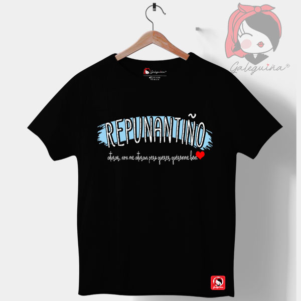 Camiseta Repunantiño negra