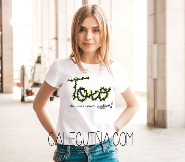 Camiseta toxo rapaza modelo
