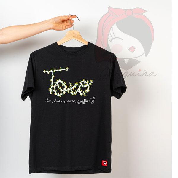 Camiseta toxo cor negra