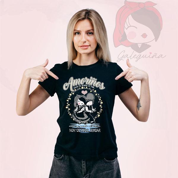 Camiseta amoriños rapaza