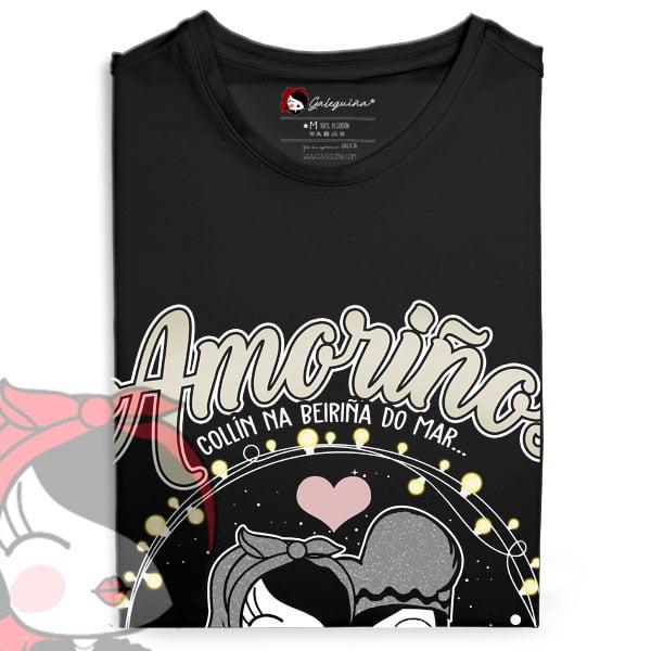 Camiseta amoriños rapaza doblada