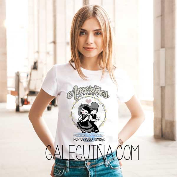 camiseta amoriños rapaza branca