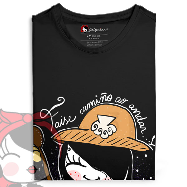 Camiseta peregrina doblada rapaza